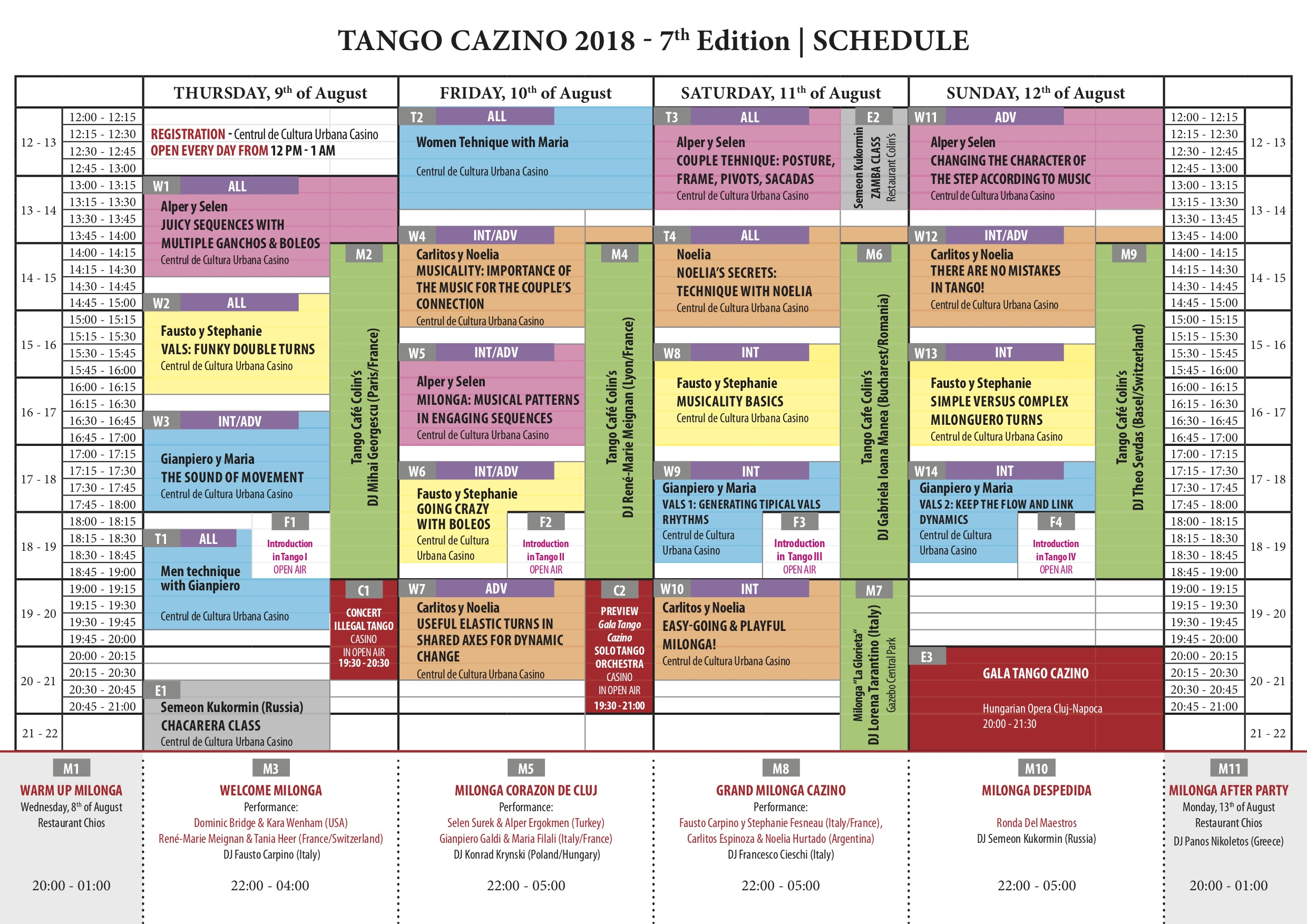 Click to open the One Page Schedule